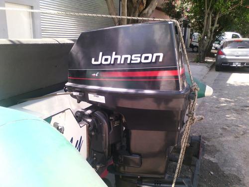 semirrijido spinning 4,30 johnson 40 hp poco uso