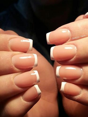 seña 50% uñas esculpidas en gel gelificadas fotos reales