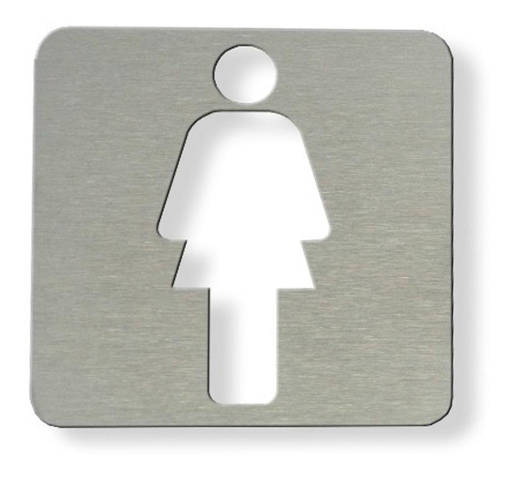 89075a6401fa Señal Cartel Hombre Mujer 90x90 Baño Cartel Acero Inox Radem