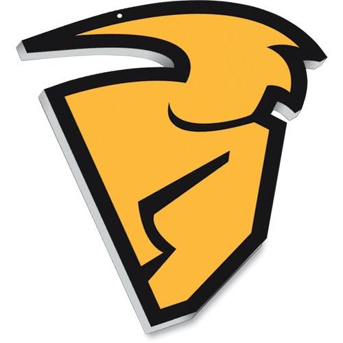 señal d/máscara colgante thor p/motocross amarilla 22inx30in