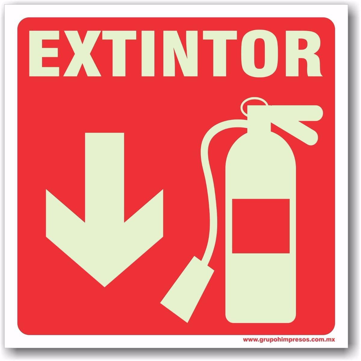 Señal Protección Civil Extintor Letrero 20 X 20 Cm Estireno