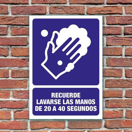 señalamiento recuerde lavarse las manos 24x34 cm