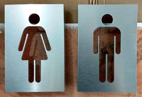 señalamientos para baño metálicos con iluminación led