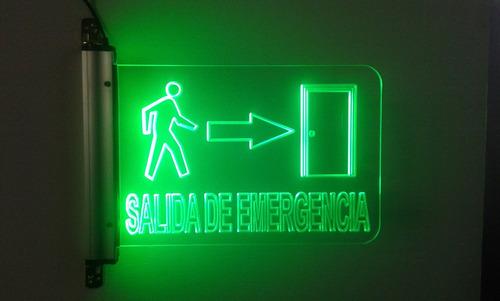 señalización luminosa led - señalética de seguridad 9''