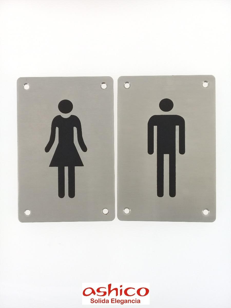 62f45cfc569a Señalizacion Para Baño Hombre, Mujer Y Wc Señal Letrero Wc