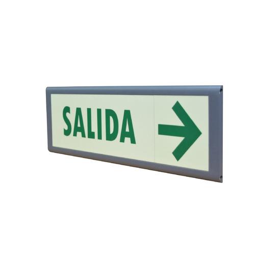 señalizacion   salida con flecha  15x45