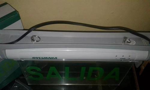 señalizador de salida led marca sylvania