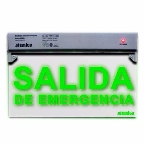 señalizador led doble faz  salida de emergencia  atomlux
