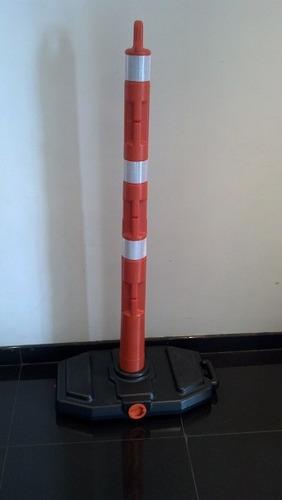 señalizador vial tubular - delineador - baliza