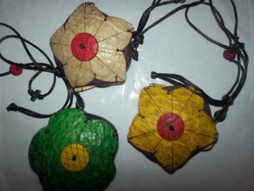 sencilleros hechos en el perú con cáscaras conchas de cocos