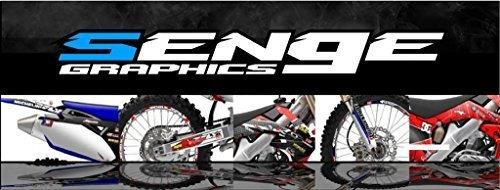 Senge Graphics Kit Compatible with Honda 2007-2019 CRF 150R Surge Black Graphics kit