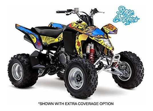 Compatible with Suzuki All Years LTR 450 Surge Yellow Graphics Kit with blank number plates