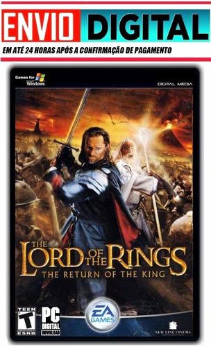 senhor dos anéis - o retorno do rei - pc - envio digital.