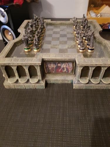 senhor dos anéis - xadrez - magnífico - no brasil
