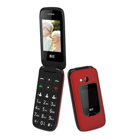 Senior Phone Rojo Clamshell Con Pantalla Externa