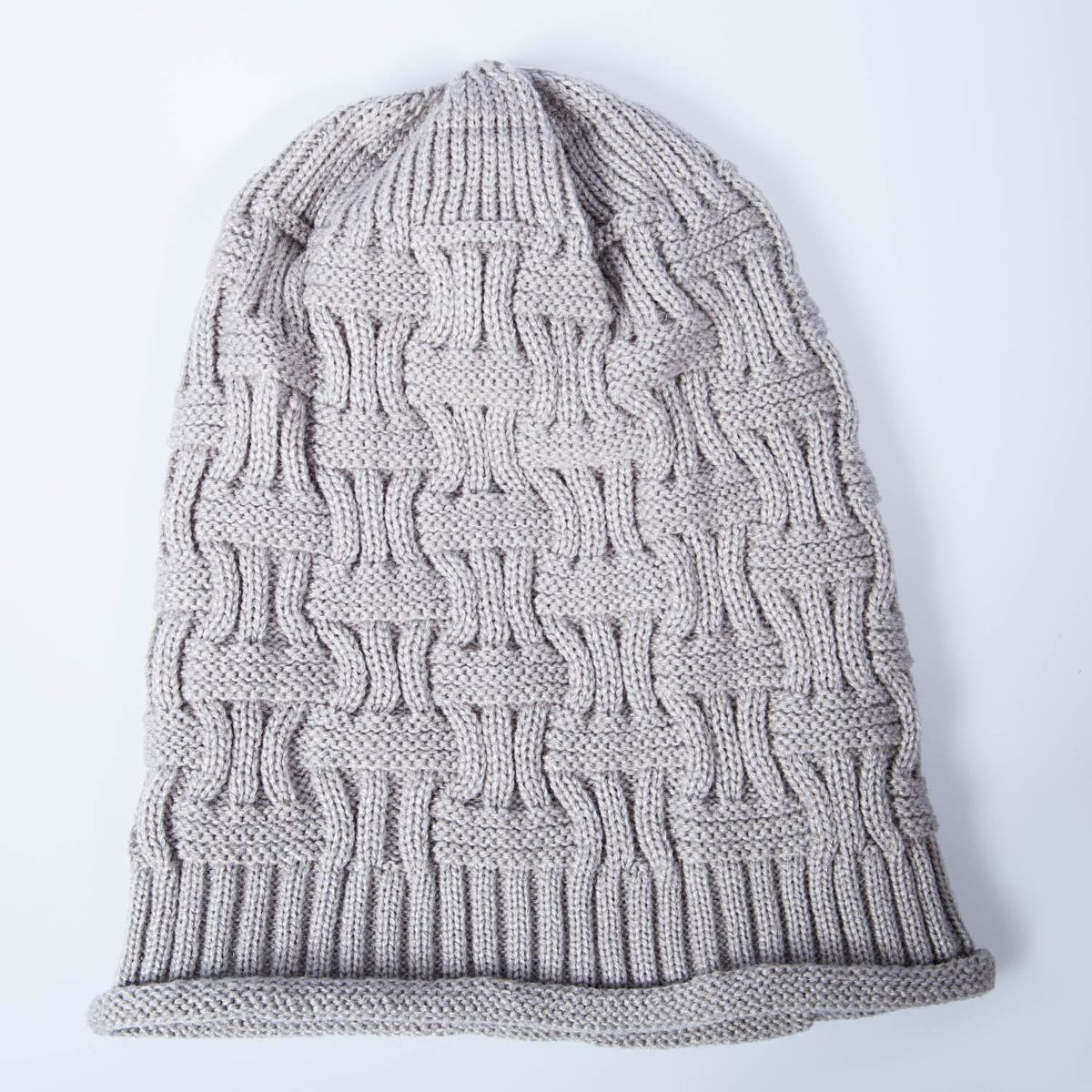 Senker Slouchy Beanie Cap Knit Soft Cozy Oversized Sombre ...