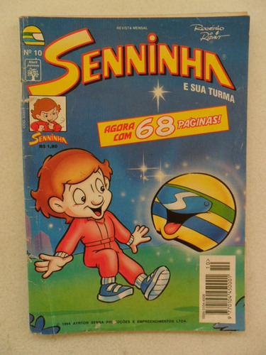 senninha nº 10! editora abril! out 1994! leia o o anúncio!