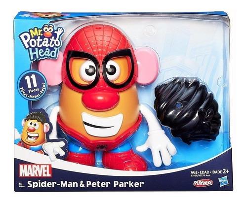 señor cara de papa spider man y peter parker r: b0276 hasbro
