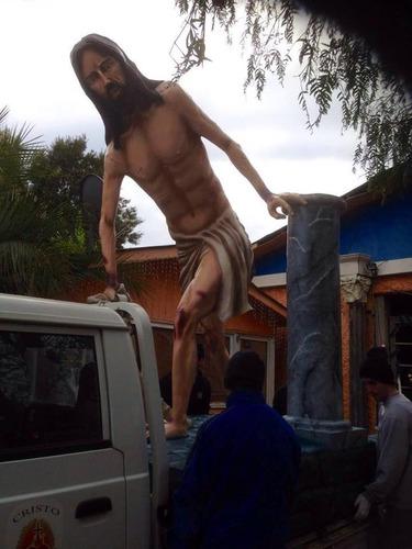 señor de huanca escultura religiosa en fibra bronce