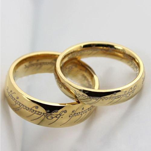 señor de los anillos anillo unico en titanium steel