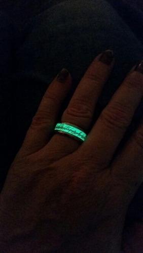 señor de los anillos brilla oscuridad acero inoxidable moda