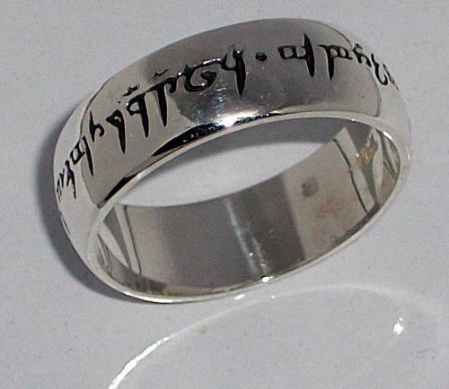 señor de los anillos the lord of the ring en plata ley.925