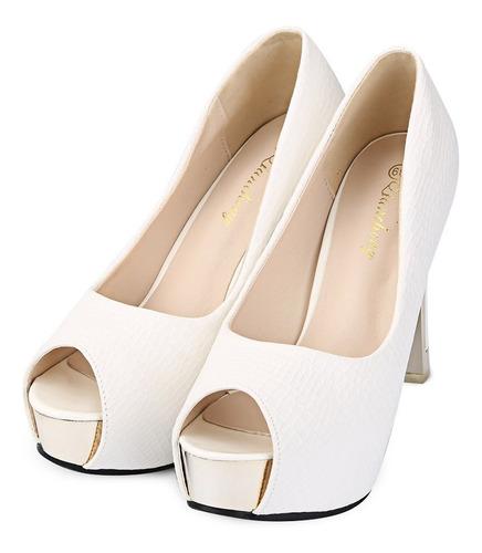 señoras sexy boca de pez gruesos zapatos de tacón