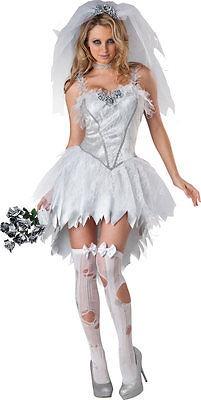 Señoras Sexy Cadáver Muerto Zombie Novia Halloween Disfraces ... b778266b1069