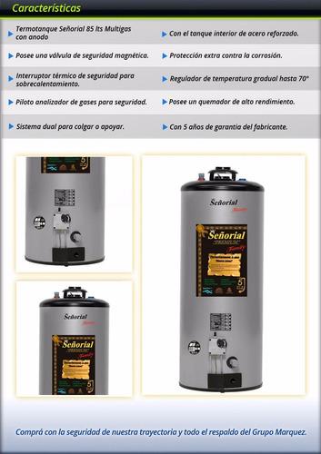 señorial gas termotanque