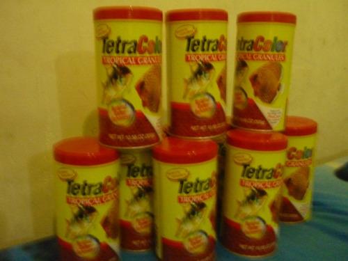 sensacional tetracolor granulos para peces y acuarios 300gr