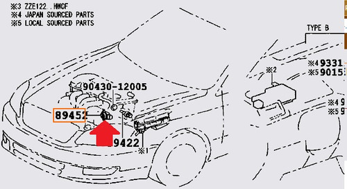 sensor aceleracion starlet 97 nueva sensacion org 8945220130