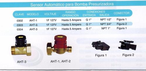 sensor automatico  para bomba presurizadora. tecnobombas