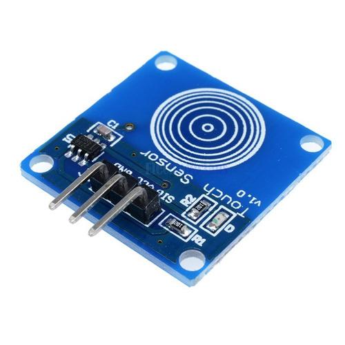 sensor botão de toque capacitivo touch ttp223 arduino