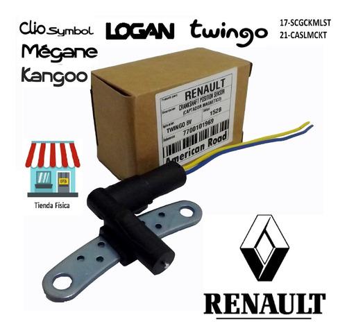 sensor cigueñal avioncito con conector renault symbol logan