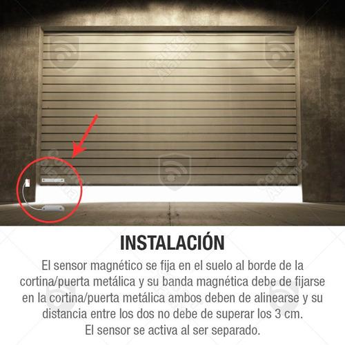 sensor cortina metalica uso rudo alarma casa negocio oficina