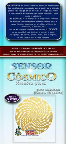 sensor cósmico o pirámide plana (17 cms) 2 piezas