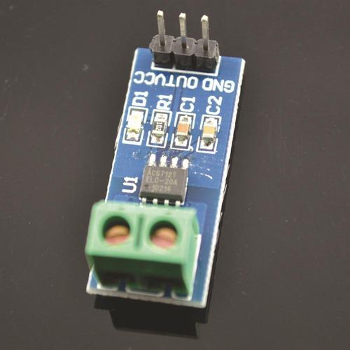 sensor de corriente acs712  0-30a arduino pic raspberry dsp