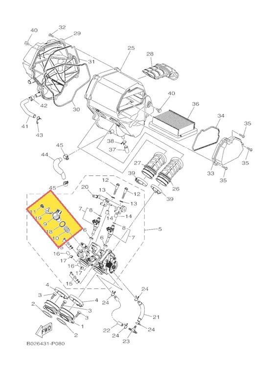 Sensor De Cuerpo Aceleracin Yamaha Yzf R3 Mod 15 17 Orig