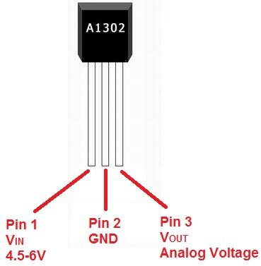 Sensor de efecto hall a1302 bs en mercado for Linear motor hall sensor