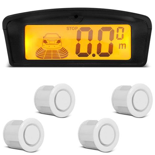 sensor de estacionamento 4 pontos brancos com display