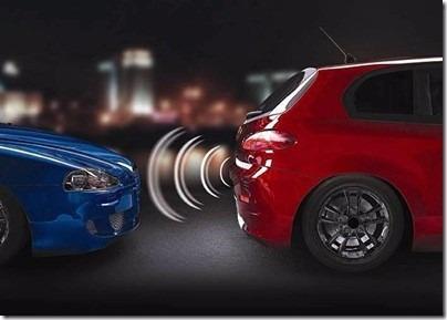 sensor de estacionamento 4 pontos vermelho display led color