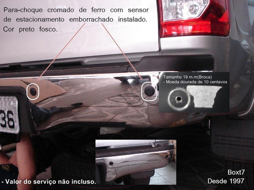 sensor de estacionamento parachoque cromado de ferro