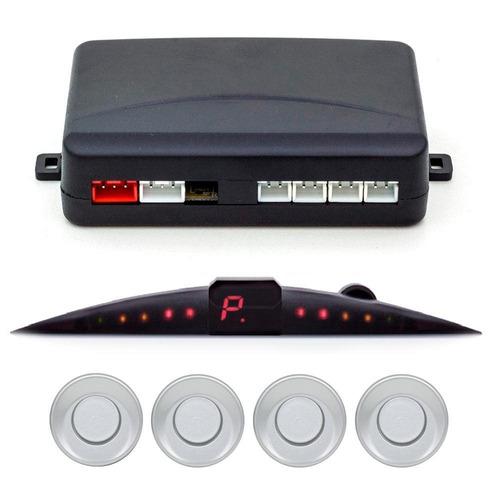 sensor de estacionamento pósitron ps210 - 4 pontos - prata