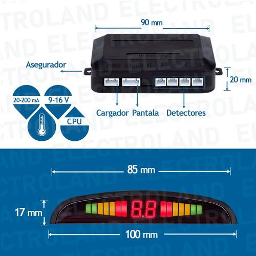 sensor de estacionamiento kit x 4 sensores display digital