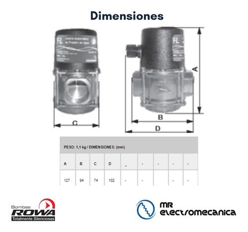 sensor de flujo agua bombas presurizadoras rowa fl bronce