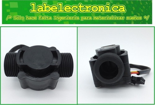 sensor de flujo de líquidos caudalimetro 3/4 pulg dn20 60lpm
