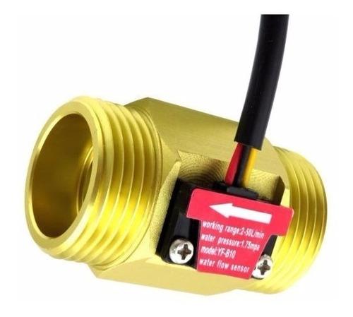 sensor de flujo líquidos caudalimetro 1  pulg cobre 2-50lpm