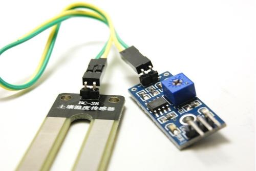 sensor de humedad del suelo tierra higrometro arduino pic
