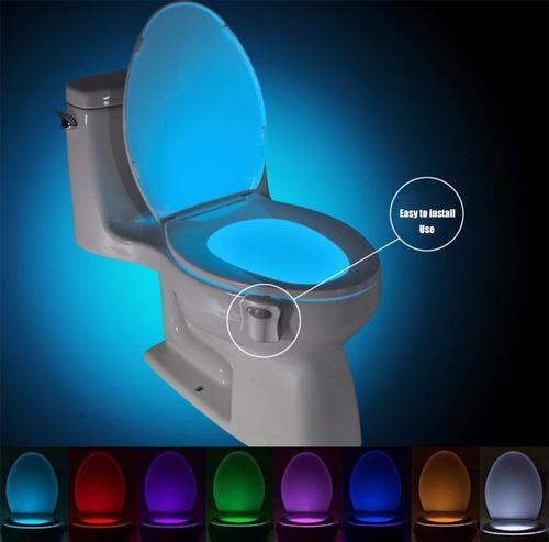 sensor de movimiento asiento de inodoro luz de noche
