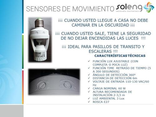 sensor de movimiento e27 iluminacion  (ahorrador de energía)